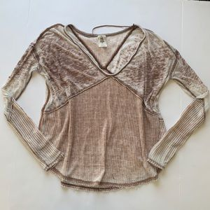 Free People Oversized Burnout thermal Size XS